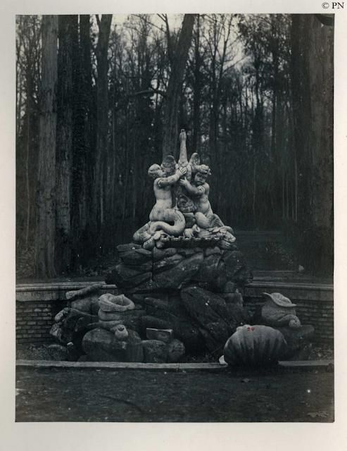 J.Sala y Sardá, Fuente del Cisne en el Jardín del Príncipe de Aranjuez.