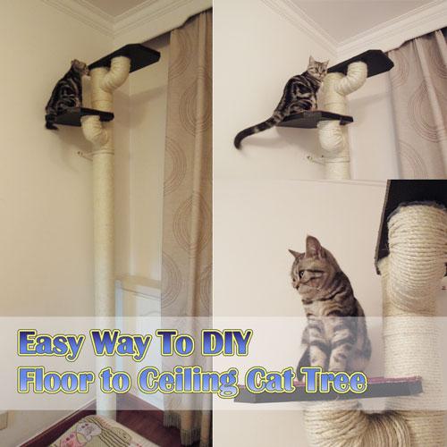 DIY Floor to Ceiling Cat Tree - Meow-Cat.com