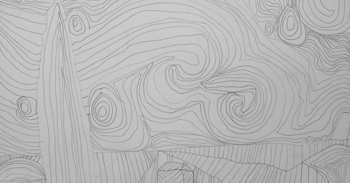 Starry Night Zentangle Second Grade Art Lesson