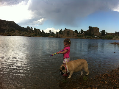 camping at the lake with a bulldog www.thebrighterwriter.blogspot.com