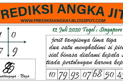 Prediksi Togel Jitu Singapore Minggu 12 Juli 2020