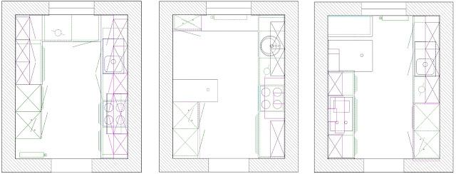 Küche auf 8 qm - Grundriss Beispiele