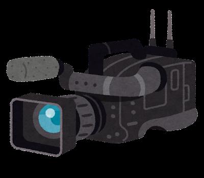 業務用のビデオカメラのイラスト