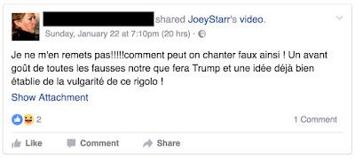 Une nouvelle star à l'investiture de Donald Trump ? commentaire Facebook