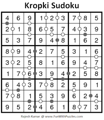 Kropki Sudoku (Daily Sudoku League #181) Solution
