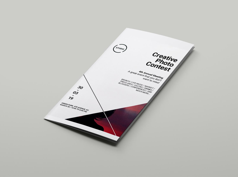 Realistic Flyer Brochure Mockup