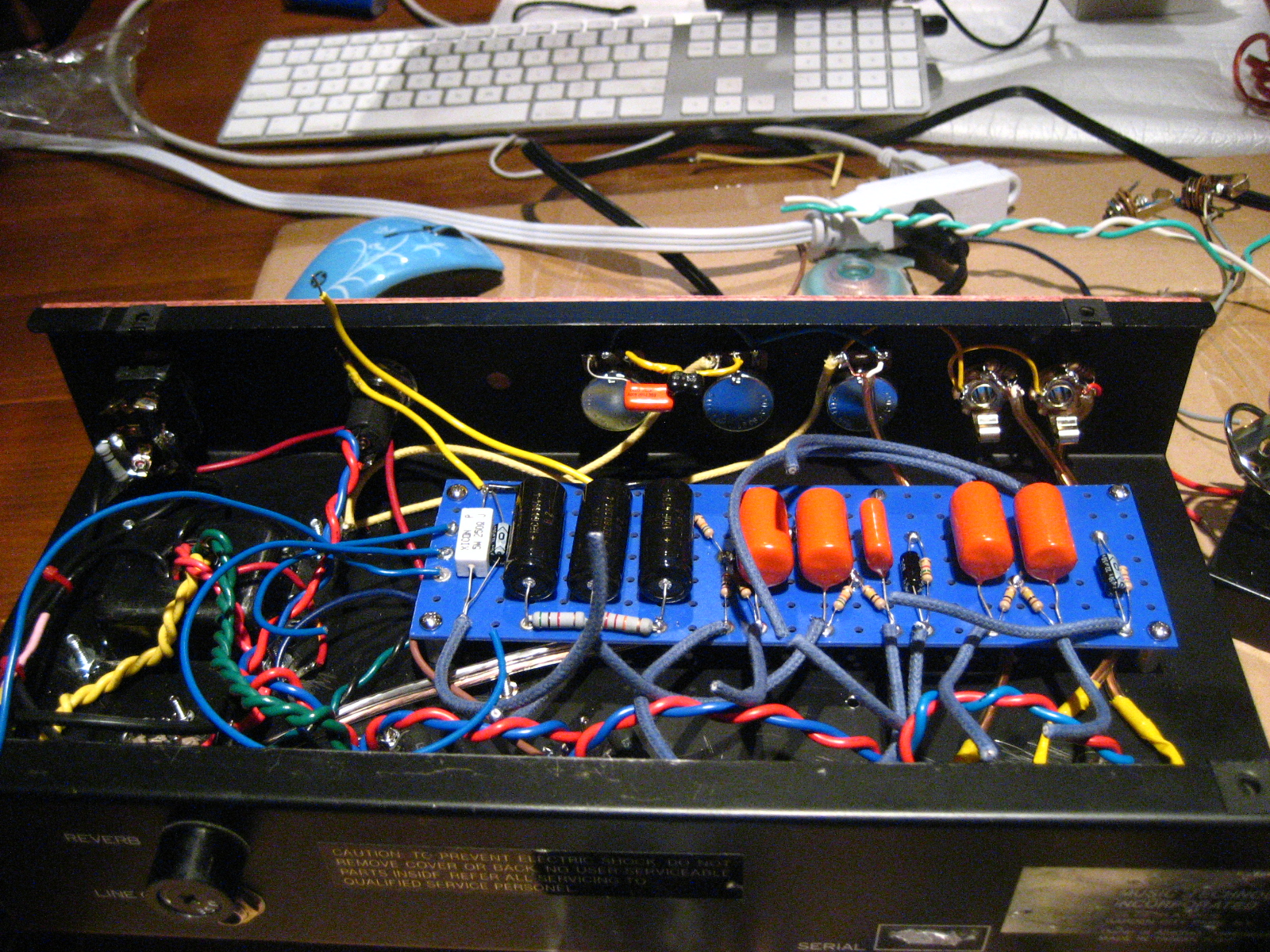 Practice Amp 5e3 Deluxe Conversion For Bert Guitar Talk Circuit Board Eyelets Finished Wiring Up The