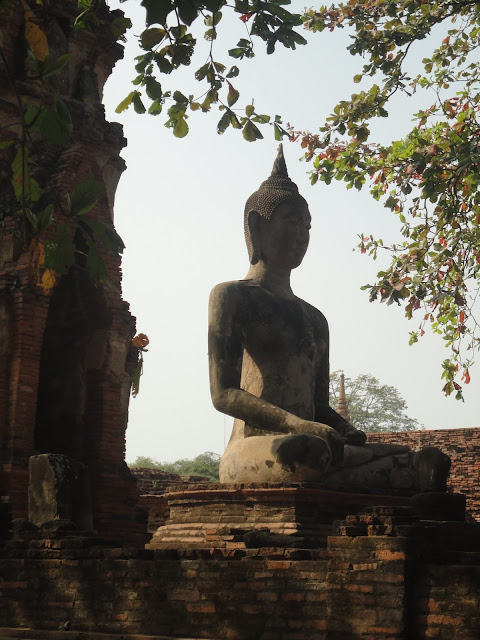 Wat Mahathat, temple Thaïlande, Ayutthaya, location vélo, guesthouse
