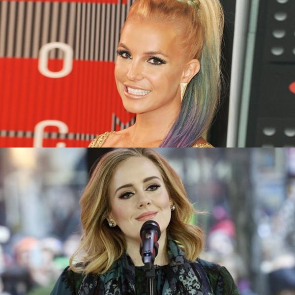 Britney Spears le enseña a cantar a Adele