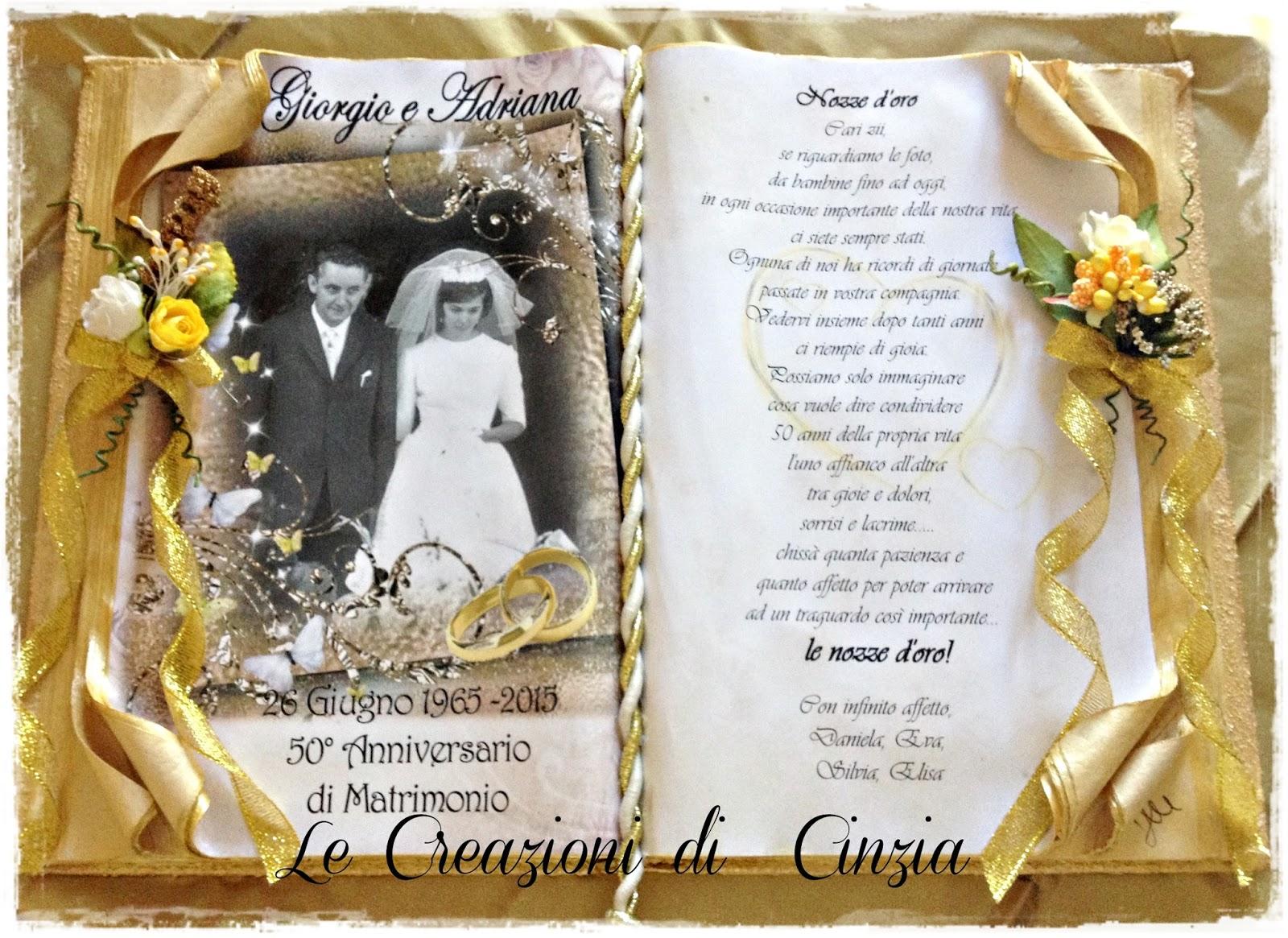 Regalo nozze d oro zii