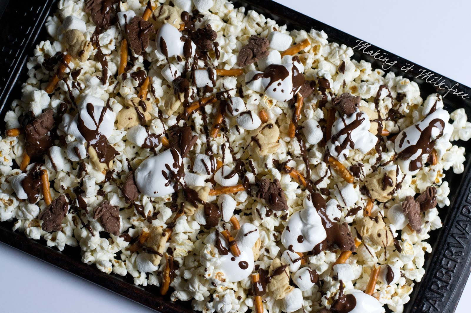 S'mores Popcorn Snack Mix by Making it Milk-free
