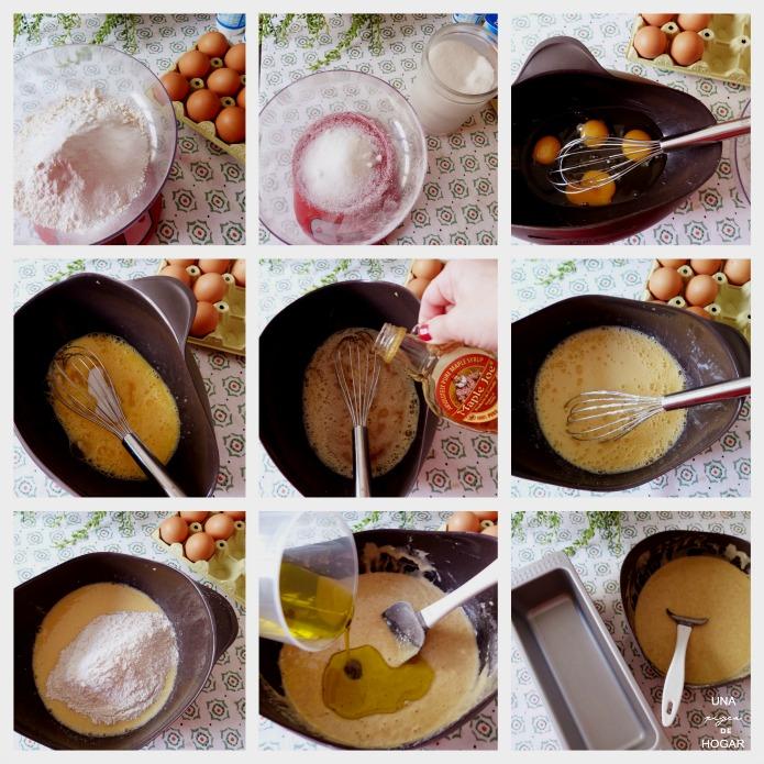 eleaboración del bizcocho integral de jarabe de arce