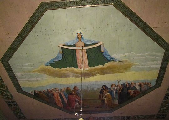 Malowidło na sklepieniu cerkwi.
