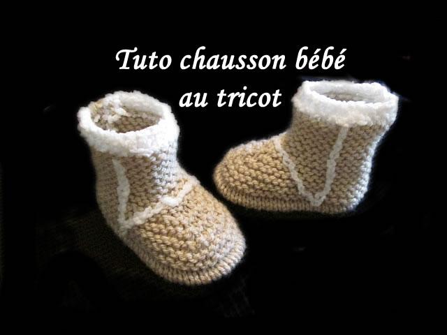 les tutos de fadinou tuto chausson bottes bebe au tricot. Black Bedroom Furniture Sets. Home Design Ideas