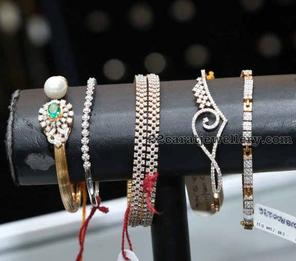 Simple Diamond Bangles Bracelets
