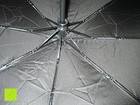 innen: GHB Automatic Regenschirm Taschenschirm mit 96 cm Durchmesser Schwarz
