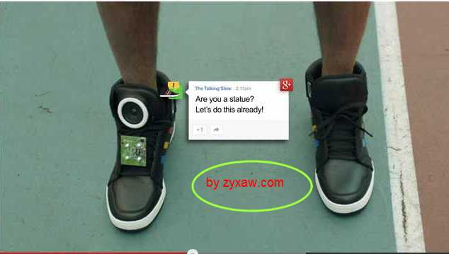 Google-Adidas Intelligent Web Sneakers which Broadcasts with the Social Net