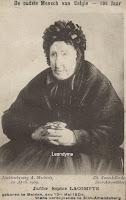 Lacompte Sophie 1804-1910. Was destijds de oudste vrouw van België
