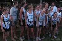 Swift Creek Middle School girls' cross-country team.