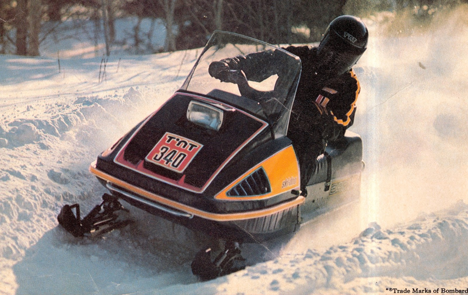 CLASSIC SNOWMOBILES OF THE PAST: 1976 SKI-DOO 340 T'NT