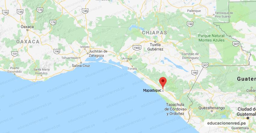 Temblor en México de Magnitud 4.5 (Hoy Lunes 27 Abril 2020) Sismo - Epicentro - Mapastepec - Chiapas - CHIS. - SSN - www.ssn.unam.mx