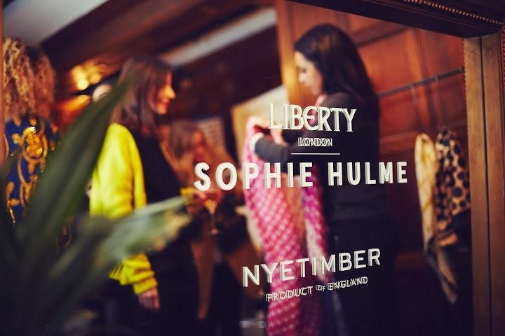 Sophie Hulme x Liberty scarf launch event