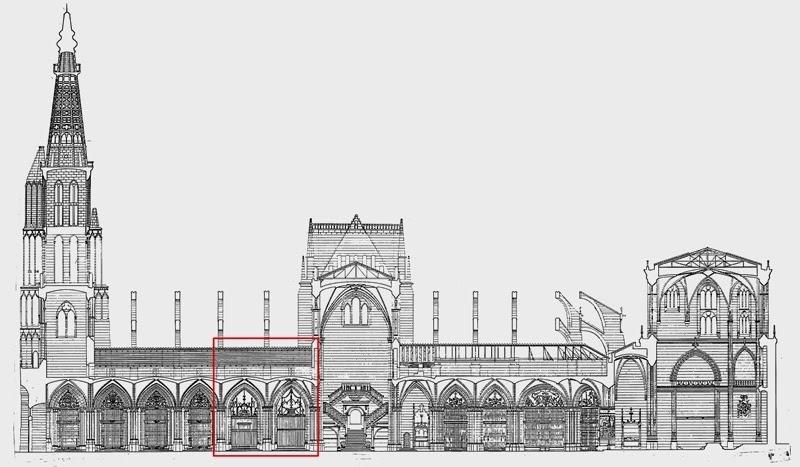 Sección plano catedral de Burgos