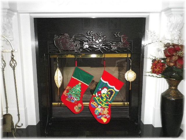 Style, Decor & More: Kirkland's Santa Stocking Holder ...