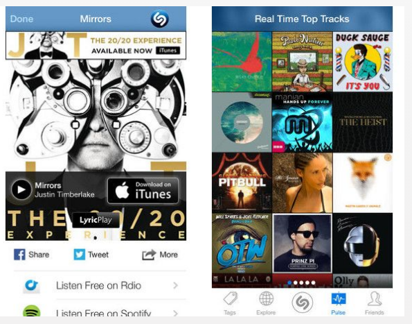 Best musical  Apps Sazam for IOS7
