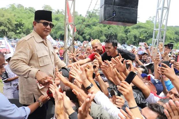 Pecah! Kunjungi Jawa Tengah, Prabowo Disambut Lautan Warga