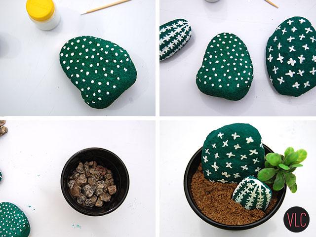 DIY cactus de pedra passo a passo