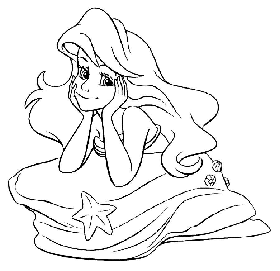 Yeni Cocuk Boyamalari En Guzel Prenses Ariel Boyamalari