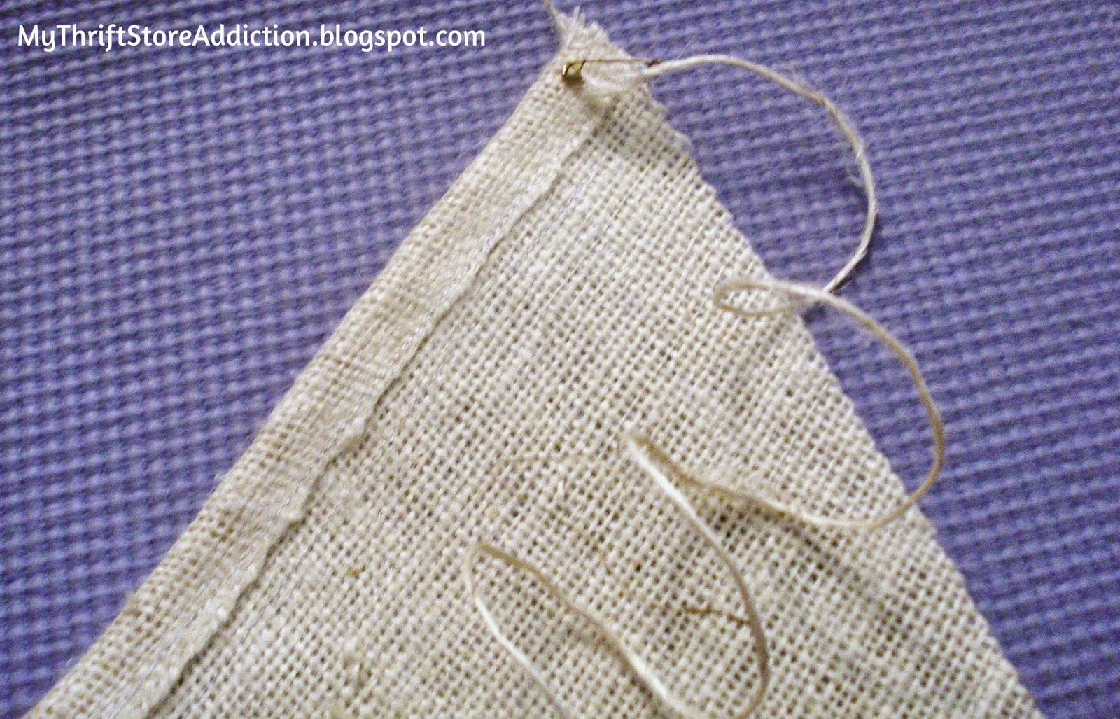 DIY burlap and chalk cloth banner