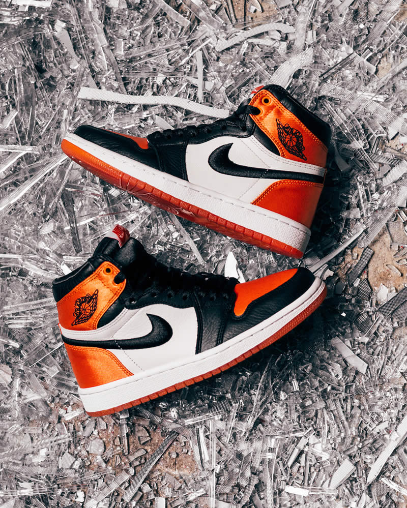 33aa23d2b78d4a Air Jordan 1 Retro Satin Orange