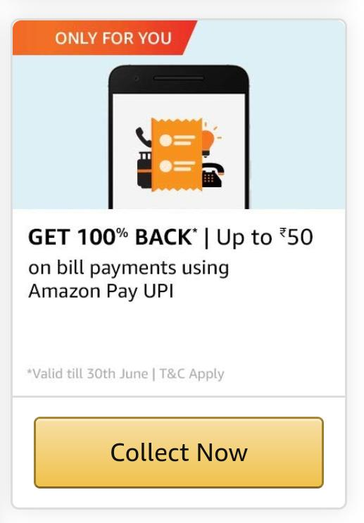 Amazon Bill Payment Offer