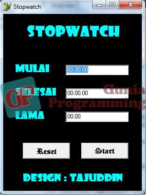 Program Stopwatch Keren dengan Delphi 7 - Dunia Programming