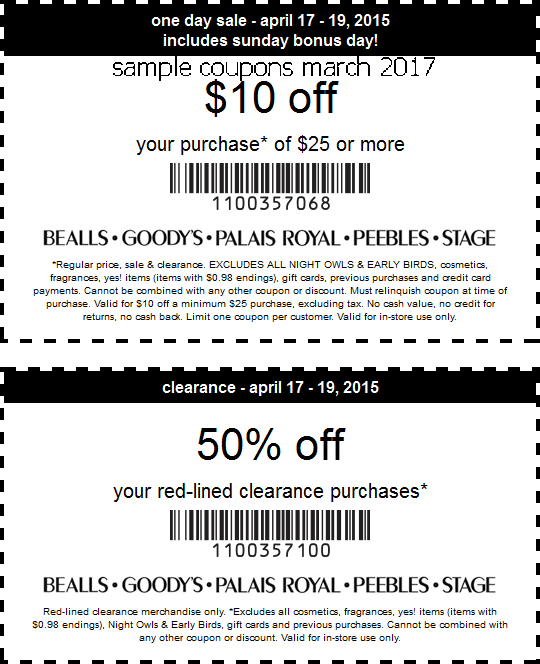 Bealls coupon codes