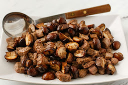 Buttered Steak Bites with Mushrooms #dinnerrecipe #food