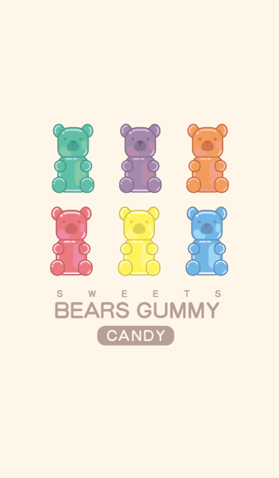 Bears Gummy Candy # Pink