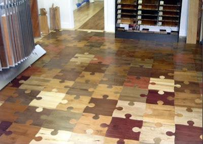 diseño de piso como rompecabezas
