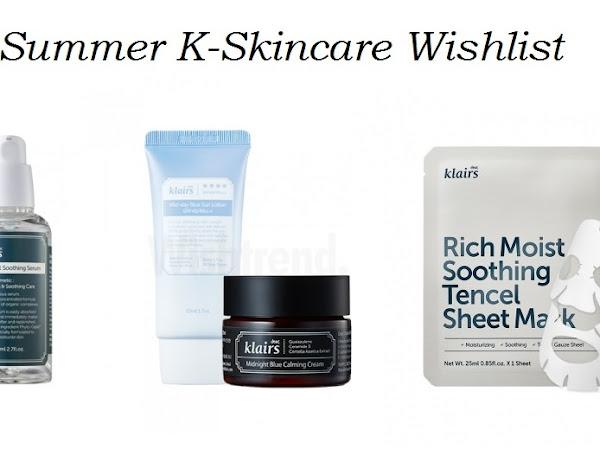 Summer K-Skincare Wishlist von Wishtrend