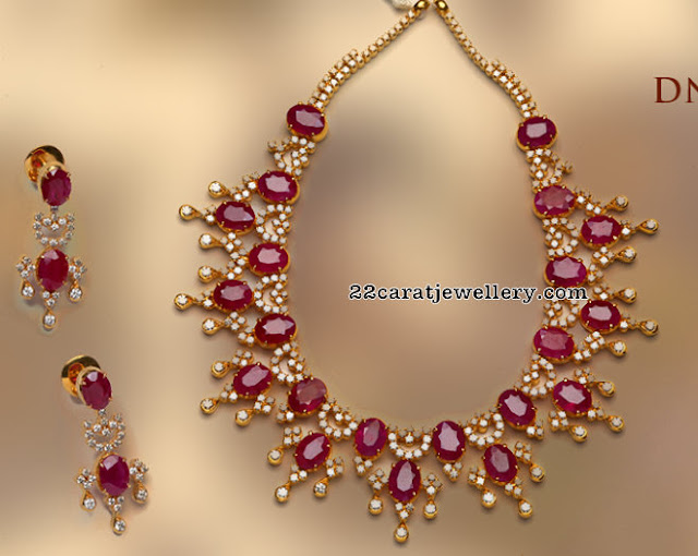 Ruby Diamond Set by Tibarumal Jewels