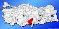 Adana ilinin Türkiye haritasında gösterimi