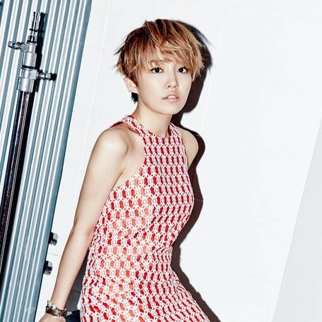 Younha with short haircut