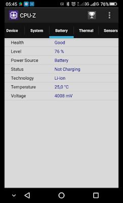 Melihat Spesifikasi Baterai dengan CPU-Z