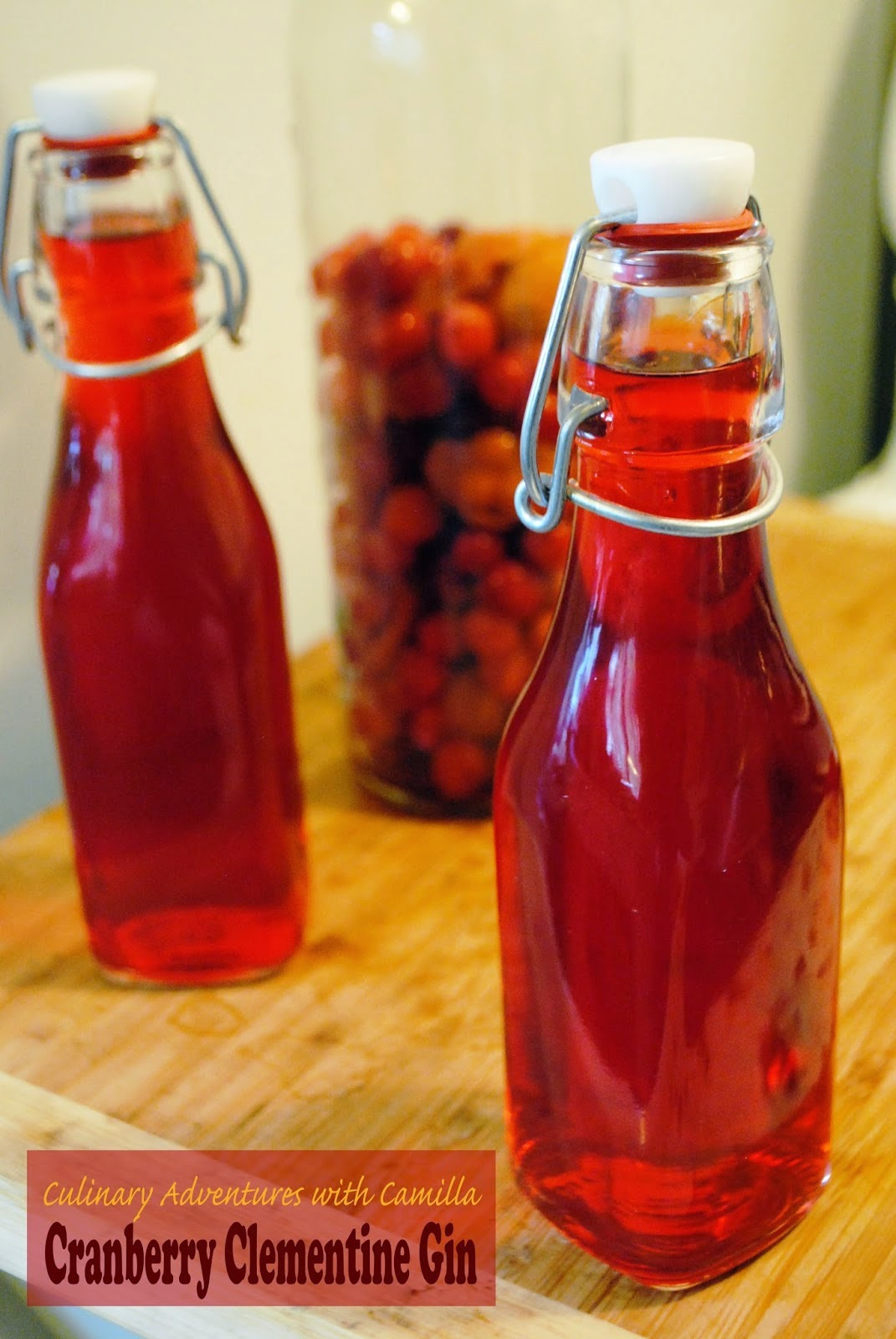 Featured Recipe: Cranberry Clementine Gin from Culinary Adventures with Camilla #secretrecipeclub