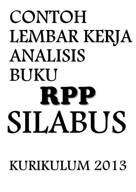 Contoh Lembar Kerja Analisis Buku RPP Silabus GRATIS