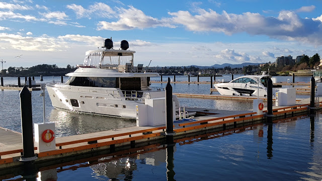 Two early adopters of the new marina...