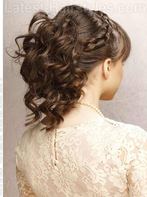 Hair style for long hair with bangs