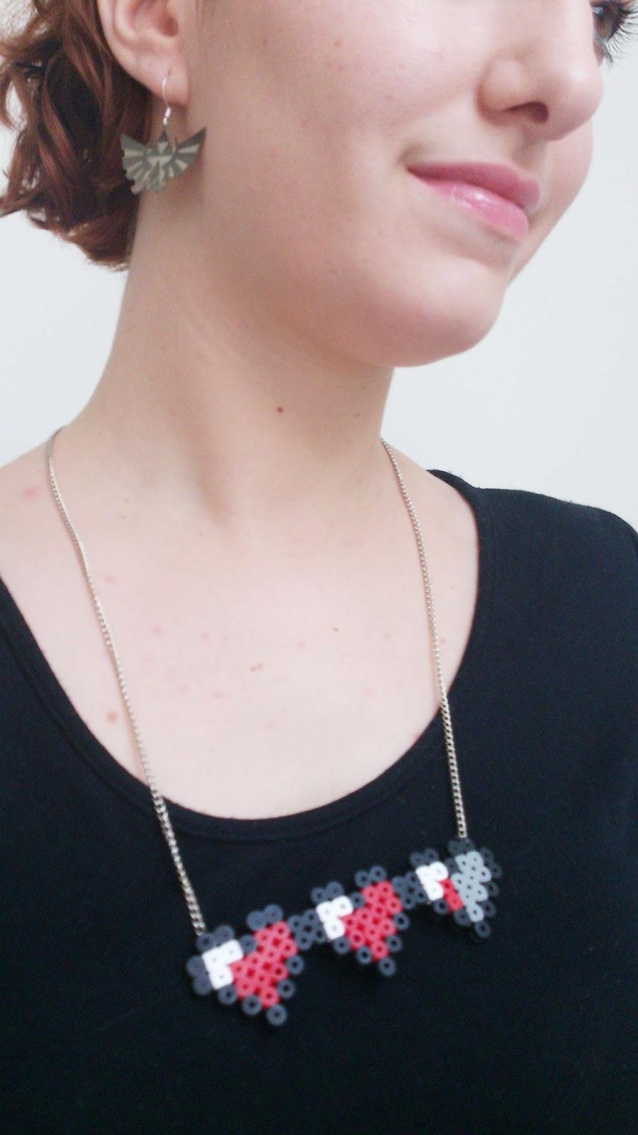 bijoux en perles hama zelda